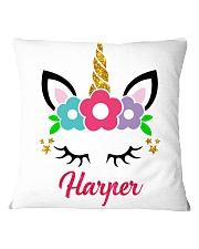 Unicorn harper Square Pillowcase front