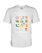 Vegan - Talk to animal 1906P V-Neck T-Shirt thumbnail