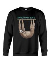 Advice from a sloth 1906P Crewneck Sweatshirt thumbnail