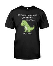 T-rex Happy 1806 Classic T-Shirt front