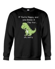 T-rex Happy 1806 Crewneck Sweatshirt thumbnail