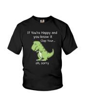 T-rex Happy 1806 Youth T-Shirt thumbnail
