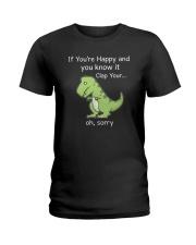 T-rex Happy 1806 Ladies T-Shirt thumbnail