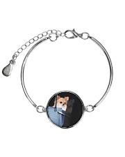 Chihuahua In Bag 1406 Metallic Circle Bracelet thumbnail