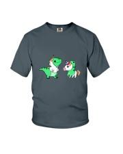 T-rex and Unicorn Youth T-Shirt thumbnail