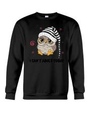 Owl Adult Today Crewneck Sweatshirt thumbnail
