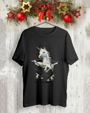 Unicorn In Pocket 2509 Classic T-Shirt lifestyle-holiday-crewneck-front-2