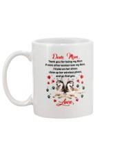 Siberian Husky Dear Mom 1906 Mug back