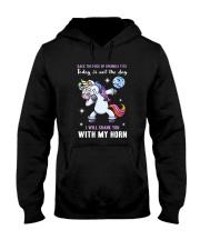 Unicorn I will shank you 150319 Hooded Sweatshirt thumbnail