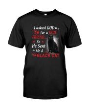 Cat Asked God Classic T-Shirt front