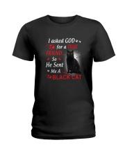 Cat Asked God Ladies T-Shirt thumbnail