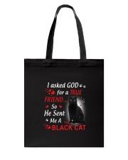 Cat Asked God Tote Bag thumbnail