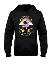 Flamingo Unicorn Hooded Sweatshirt thumbnail