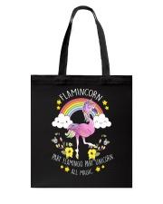 Flamingo Unicorn Tote Bag thumbnail