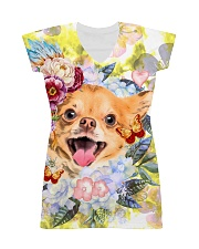 Chihuahua Happy Flowers 1406 All-over Dress thumbnail