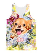 Chihuahua Happy Flowers 1406 All-over Unisex Tank front