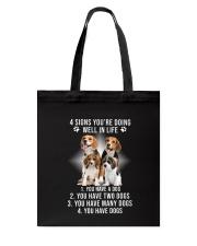 Beagle Signs Tote Bag thumbnail