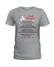 Unicorn To my daughter 1610 Ladies T-Shirt thumbnail