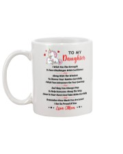 Unicorn To my daughter 1610 Mug back