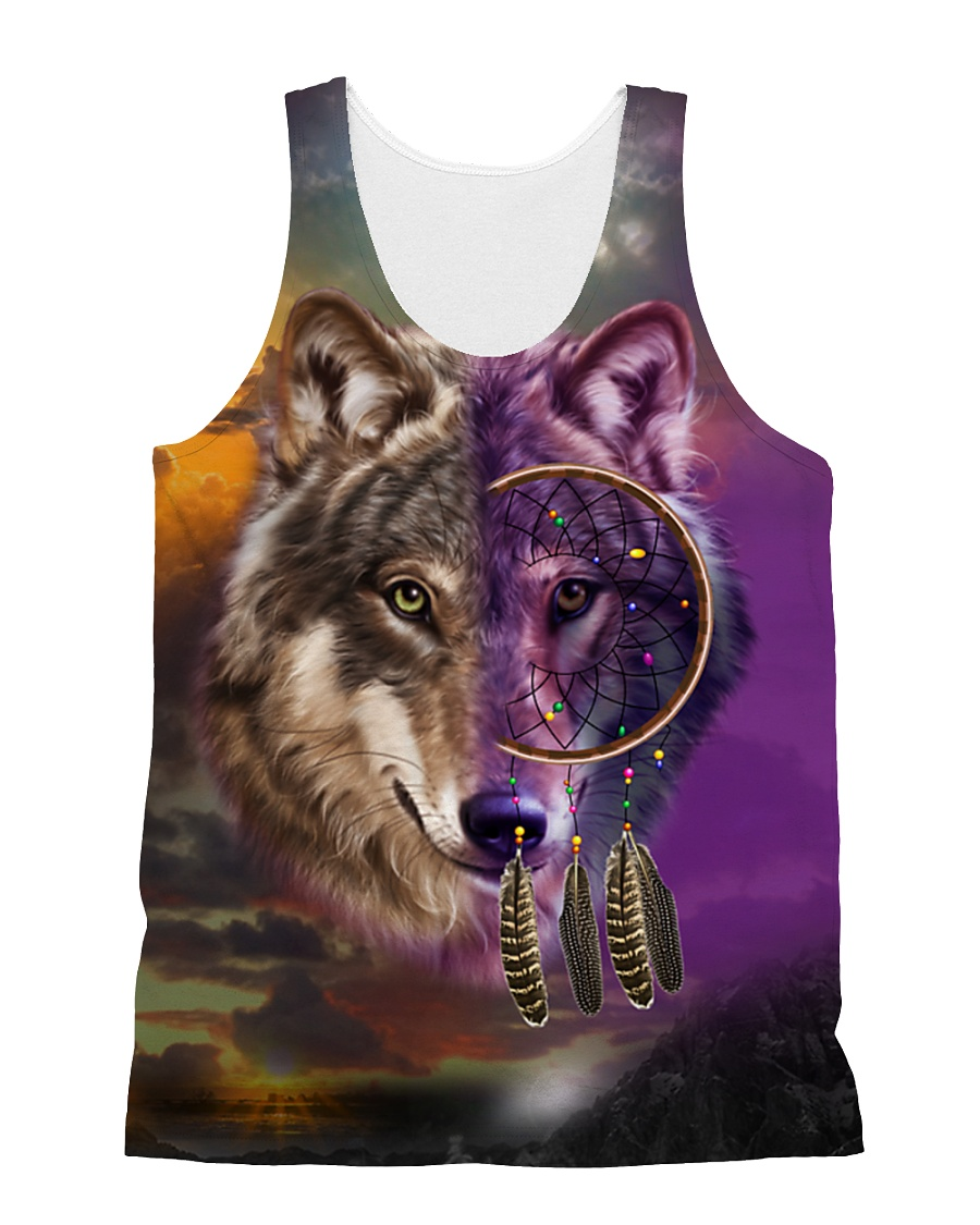 Wolf Dream Catcher  All-over Unisex Tank