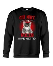 Cat Humans Crewneck Sweatshirt thumbnail
