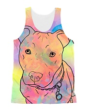 American Pit Bull Terrier Color Summer All-over Unisex Tank front