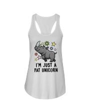 Fat Unicorn Ladies Flowy Tank front
