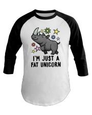 Fat Unicorn Baseball Tee thumbnail