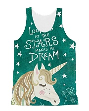 Looking At The Stars  All-over Unisex Tank front