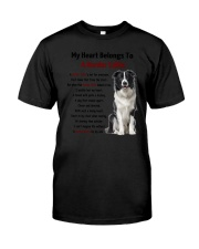 Boder collie - My heart belongs to 1406L Classic T-Shirt thumbnail