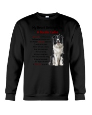 Boder collie - My heart belongs to 1406L Crewneck Sweatshirt thumbnail