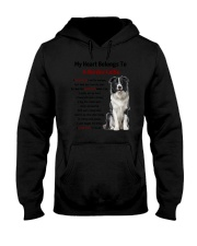 Boder collie - My heart belongs to 1406L Hooded Sweatshirt thumbnail
