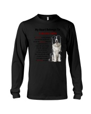 Boder collie - My heart belongs to 1406L Long Sleeve Tee thumbnail
