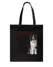 Boder collie - My heart belongs to 1406L Tote Bag thumbnail