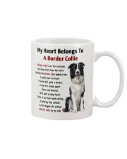 Boder collie - My heart belongs to 1406L Mug front