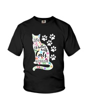 Cats Around Youth T-Shirt thumbnail