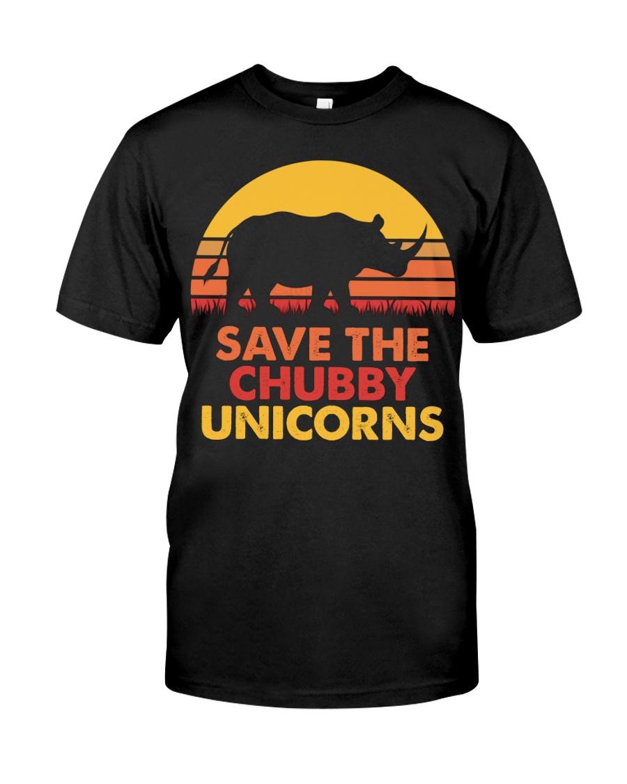 Save the chubby unicorns 140319 Classic T-Shirt