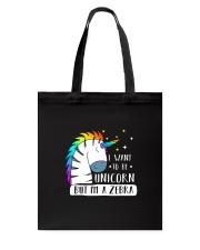 Unicorn and zebra 1209 Tote Bag thumbnail