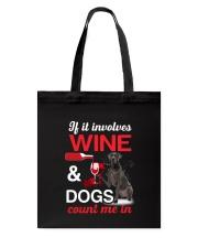 Great Dane Wine Tote Bag thumbnail