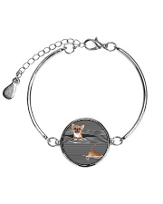 Chihuahua Striped  Metallic Circle Bracelet thumbnail