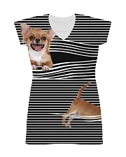 Chihuahua Striped  All-over Dress thumbnail