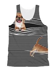 Chihuahua Striped  All-over Unisex Tank front