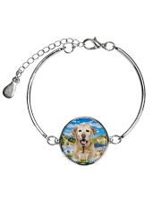 Labrador Retriever Happy  Metallic Circle Bracelet thumbnail