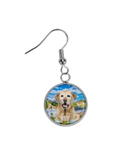 Labrador Retriever Happy  Circle Earrings thumbnail