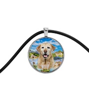 Labrador Retriever Happy  Cord Circle Necklace thumbnail