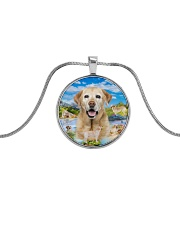 Labrador Retriever Happy  Metallic Circle Necklace thumbnail