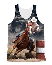 Barrel Racing 1806 All-over Unisex Tank front