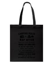 Camping Rules Tote Bag thumbnail