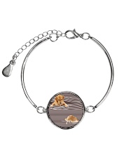Golden Retriever Striped  Metallic Circle Bracelet thumbnail