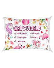 Girl's world  Rectangular Pillowcase thumbnail